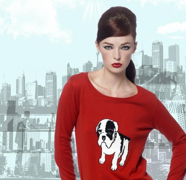 sunny girl baby bulldog sweater