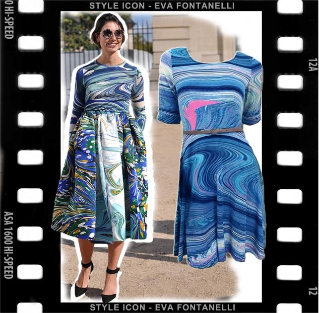 Sunny Girl swirl print dress