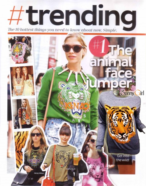 tiger face jumper by sunny girl KENZO