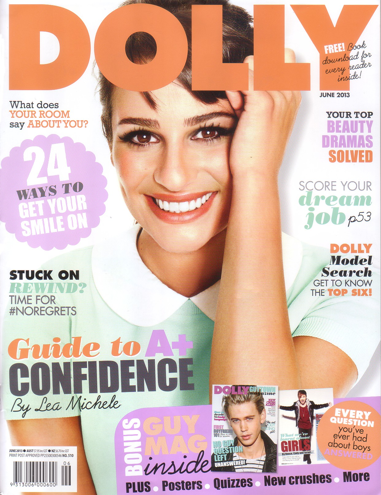 Lea Michele on the cover of June DOLLY